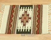 Southwestern Wool Placemat - Red Accent