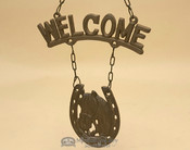 Rustic Metal Art - Welcome Horse
