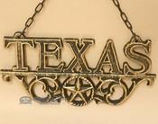 Rustic Western Hanging Metal Art- Texas
