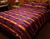 Southwestern Comforter Bed Set -Purple