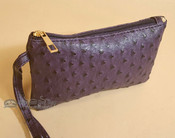 Southwestern Faux Leather Writlet Purse - Purple