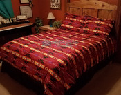 Southwestern Comforter Bed Set -Red