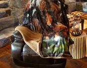 Plush Sherpa Silk Touch Throw -Wild Horses