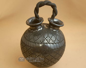 Authentic Mata Ortiz Pottery with Braided Handle - Alejandro Soto