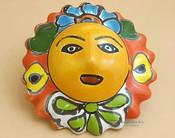 "Authentic Hand Painted Southwest Talavera Sun 4.5"" (p499)"