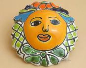 "Authentic Rustic Hand Painted Talavera Sun 4.5"" (p500)"