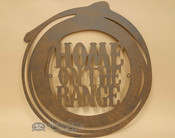 Rustic Metal Art Sign - Home On The Range Lasso