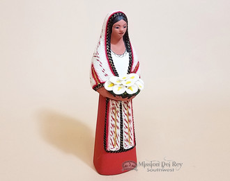 Woman Figurine With Flower -Maria