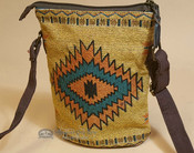 Southwestern Crossbody Bag - Orange Cream