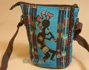 Southwestern Crossbody Bag - Blue Kokopelli