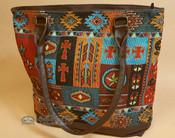 Southwestern Hand Woven Tapestry Purse - Western Design