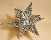 "Handcrafted Tin Hanging Metal Art 12"" -Star"