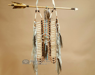 Navajo Indian Beaded Bone Breast Plate