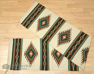 Southwestern Wool Table Runner 16x80 - Cream