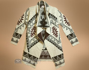 Cream Color Southwestern Cardigan - Small