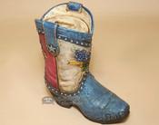 Western Style Bank - Texas Cowboy Boot & Blue Bonnets