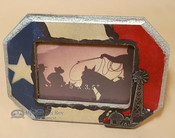 Rustic Western Style Texas Picture Frame - Windmill