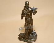 Rustic Bronze Metal Art  - St. Francis