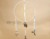 "Navajo Hand Woven Dream Catcher 12"" - White"