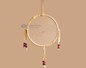 "Beaded Navajo 6"" Dream Catcher by Curtis Bitsui -Red & Black"