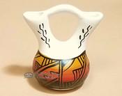 Native American Navajo Mini Painted Wedding Vase