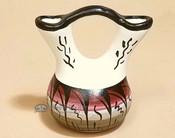 Navajo Indian Mini Painted Wedding Vase