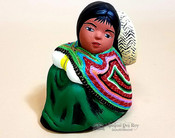 Hand Painted Clay w/ Woven Shawl