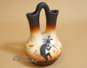 "Native American Navajo Wedding Vase 6.5"" -Kokopelli"