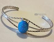 Silver & Turquoise Opal Cuff Bracelet