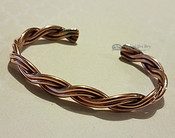 Twisted Copper Cuff Bracelet