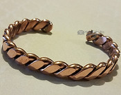 Heavy Twisted Copper Cuff Bracelet