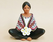 Matte Painted Sitting Maria Figurine