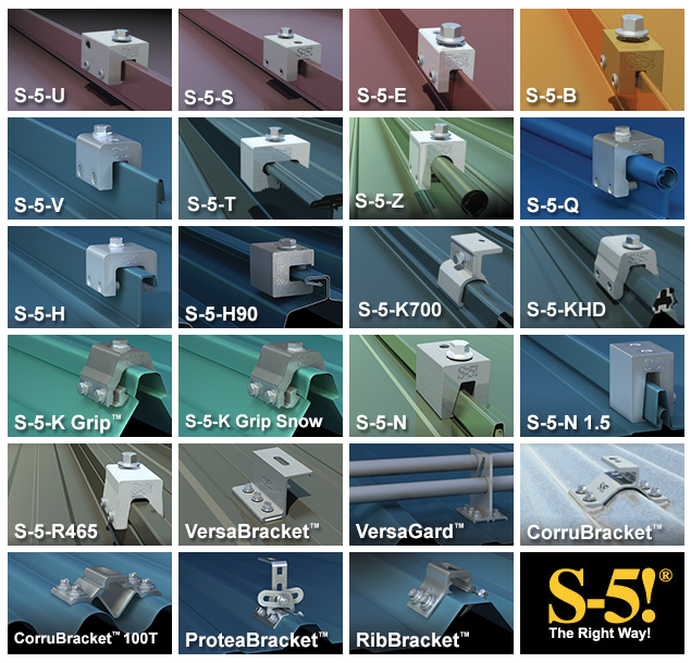 S 5 Clamps For Metal Roof Solar Installations Solaris