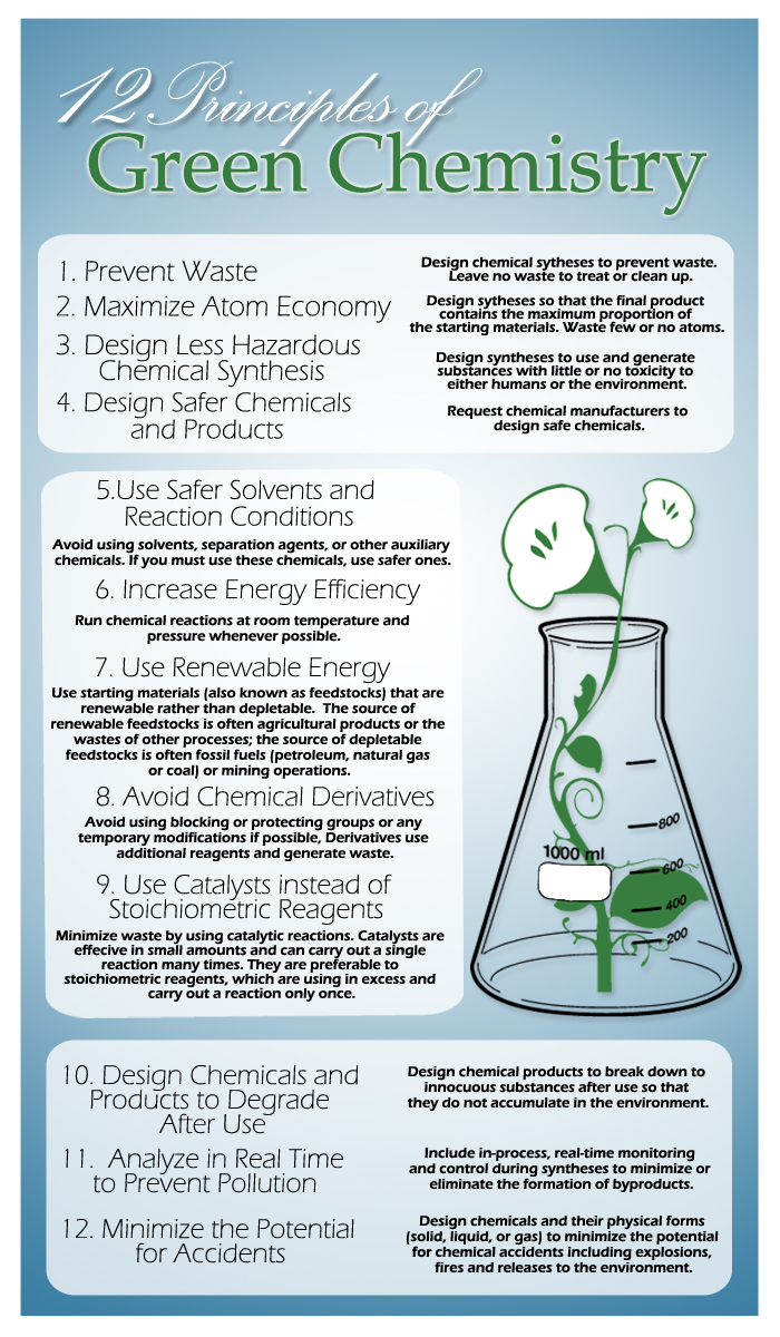 12 Principles of Green Chemistry Infographic