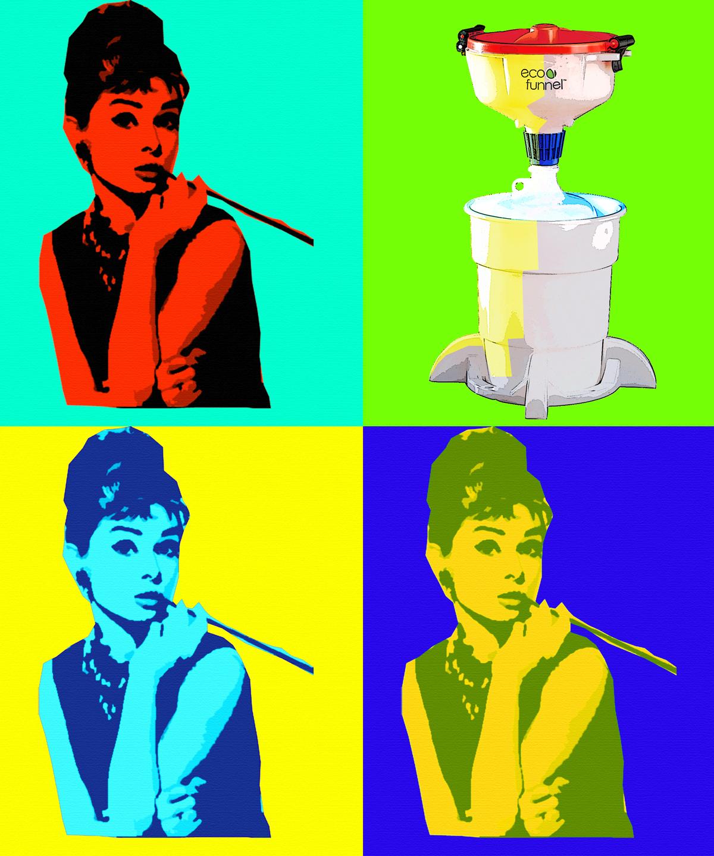 Audrey Hepburn and ECO Funnel, Warhol