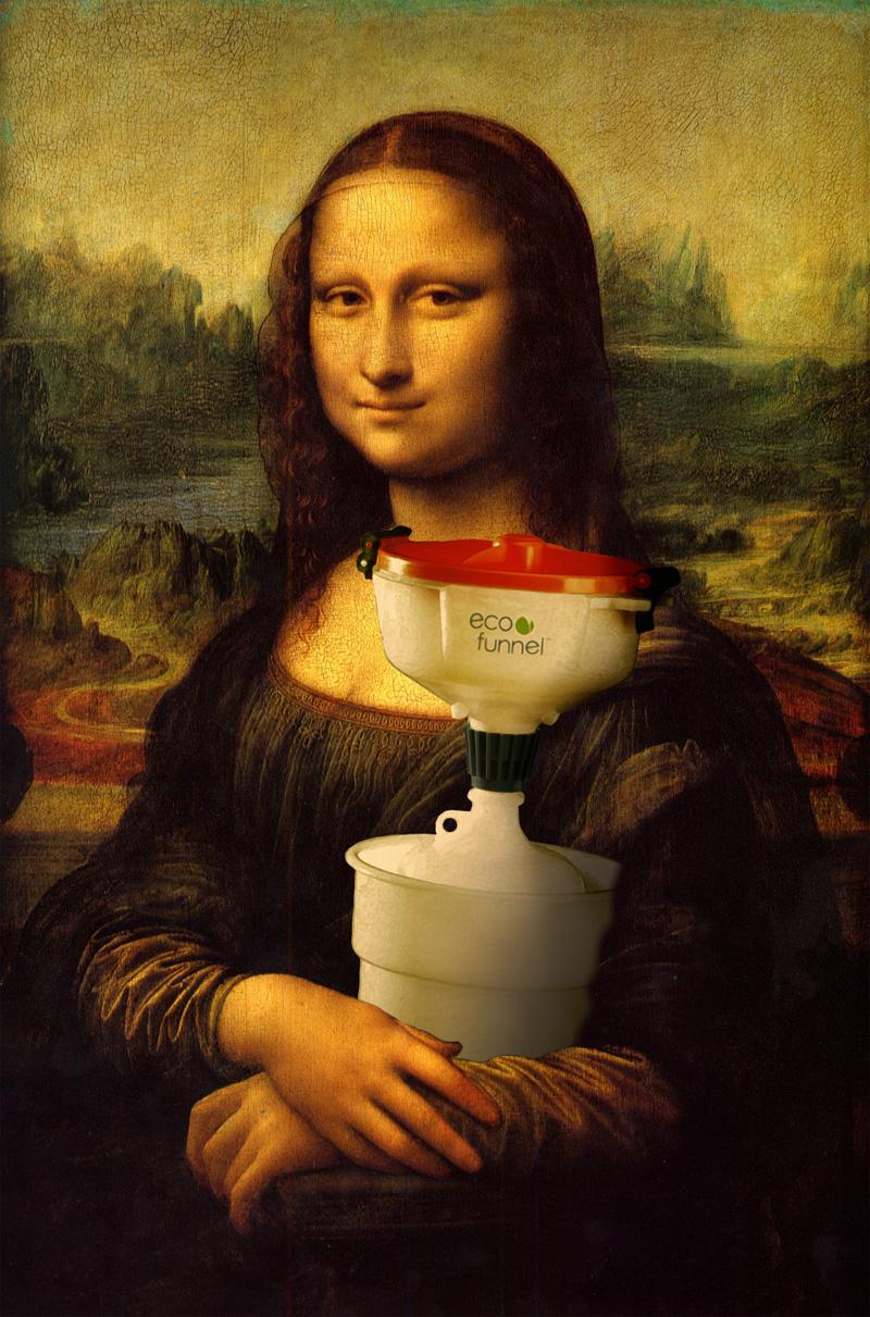 Mona Lisa with ECO Funnel, Da Vinci