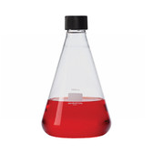 Wheaton 635134 25mL Glass Flask, Erlenmeyer, 20-400 Threaded
