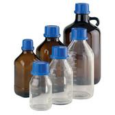 Wheaton 844027 500mL Amber Glass Bottle, Type III, 33mm, Coated