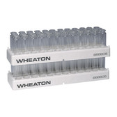 Wheaton 868805 36 Position PP Vial Rack, 23.1mm Open ID, case/5