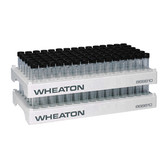 Wheaton 868810 90 Position PP Vial Rack, 17.1mm Open ID, case/5