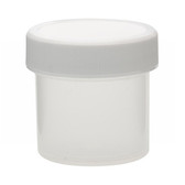 Wheaton W209900 30mL Polypropylene Jar, Unlined Cap, Case/72