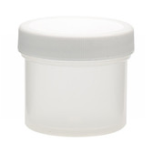 Wheaton W209901 60mL Polypropylene Jar, Unlined Cap, Case/48