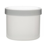 1000mL PP Jar, Polyethylene Foam Lined Cap, case/24