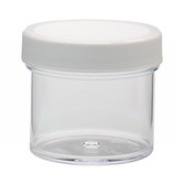 Wheaton W209913 60mL Clear Polystyrene Jar, Polyethylene Foam Lined Cap, case/48