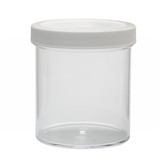 500mL Clear Polystyrene Jar, Polyethylene Foam Lined Cap, case/24
