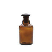 100mL Bottle, Dropping, Glass Amber, Ground Stopper, case/6