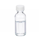1oz Glass Bottle, Clear, PP Cap, PTFE Lined Caps, case/48