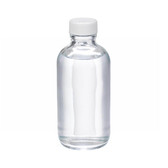 4oz Glass Boston Round Bottle, PP Cap, PTFE Lined Caps, case/24