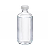 8oz Glass Boston Round Bottle, PP Cap, PTFE Lined Caps, case/12