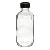 4oz Glass Boston Round Bottle, Polyethylene Cone Lined Caps, case/24